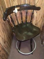 Wood stool w/back