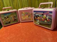 3 plastic lunch boxes w/ thermos