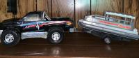 Nitro Bass Pro Shop Toy Truck; Party Barge Pontoon w/ Trailer Toy