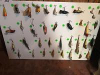 Collection of 36 vintage fishing lures