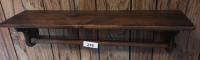 Pine shelf w/ towel bar
