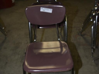 3 CHILD'S CHAIRS PURPLE IN COLOR - SILVER CHROME LEGS SELL TIMES THE MONEY