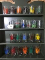 23 vintage juice glasses
