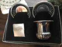 Silver plate smoke set