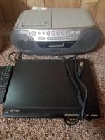Sony dvd; cd/cassette/radio
