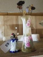 Hatpins; Vases