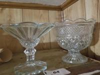 Pedastal Vase; Wexford Pressed Glass Pedalstal