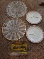 Vegetable Platter; Shenango China Divided Plates; Last Supper Platter