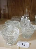 Antique Wexford Pressed Glass Collection