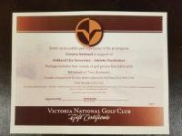 GOLF OUTING FOR 4 AT VICTORIA NATIONAL