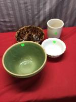Vintage Stoneware, cake mold, Ransbottom small crock, see pics for condition issues