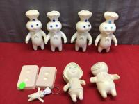 Pilsbury Dough Boy figurines and collectible items