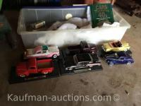 Misc Die Cast Collectible Cars & tote