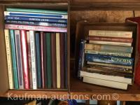 5 boxes misc books / Includes West Holmes high school yearbooks