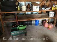 Scott's spreader, rims, railroad spikes & misc