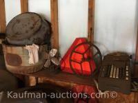 Antique Fan, & misc antiques