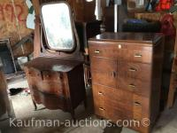 2 dressers/ 1 with Mirror