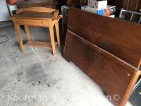 Oak wash Stand & Bed