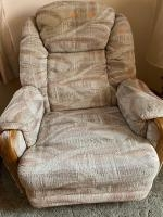 Upholstery recliner, chair swivels, no smoke or pet hair