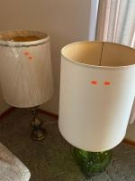 3 large living room lamps, 1 lamp base