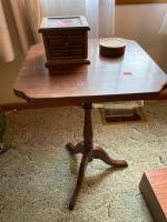 """Wooden plant stand 15"""" 15"""" 24"""", coaster set"""