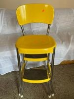 """Metal high chair with fold away steps 35"""" tall"""