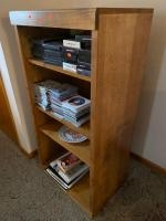 """Wooden case/4 shelves 24"""" 16"""" 48"""" CONTENTS NOT INCLUDED"""