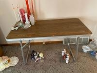 2' 4' folding table, contents not included