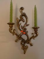 """2 wall mount candle holders 17"""" tall"""