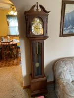 Emperor Grandfather clock, includes brick weight for carpeted rooms, 1980s era, wonderful condition,...