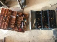 2 tackle boxes with assorted tackle