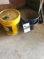 2 coal buckets, and empty 5 gallon bucket
