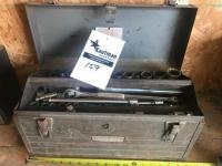 Craftsman Toolbox with assorted sockets and ratchets