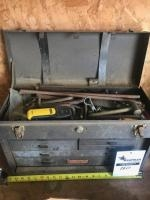 Machinists Craftsman Toolbox with assorted tools and more