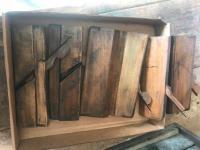 6 antique wood planes
