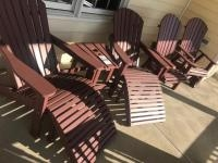 Composite Wood Patio Furniture, 2 chairs and chair and table set