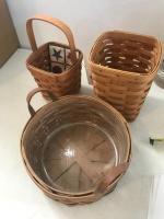 3 Baskets, all marked Longaberger