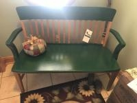 Wooden 2 seater bench, approx 45 inches long
