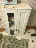 Bathroom vanity cabinet, 19 wide, 35 tall
