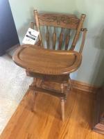 Solid Oak High Chair