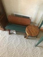 One Stepstool, and small doll size bench