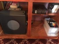 Cabinet Cleanout, books and old computer tower