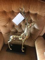 Brass Caribou Sculpture