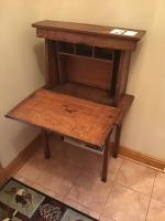 Solid Wood (likely antique) Secretary desk 30 inches wide