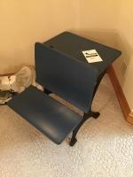 Antique School desk, with metal legs