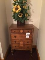 Vintage Chest of Drawers, on casters, approx 30 inches wide