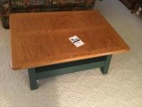 Wooden Coffee table with painted base 47 x 32 inches
