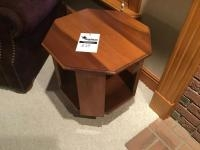 Octagon Wooden End Table