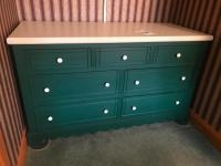 Green Painted Dresser, 63 wide, 36 high, and 26 inches deep