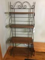 Metal Framed Wooden Shelf Kitchen shelf, 30 inches wide